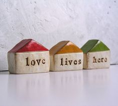Shop the latest Polymer Clay Houses products from Urania Art, HunkiiDorii on Etsy, CuriousGigi, CraftyClayStudio on Etsy and more on Wanelo, the world's biggest shopping mall. Clay Houses, Ceramic Houses, Art Houses, Clay Projects, Clay Crafts, Kitsch, Silent Auction Baskets, Handmade Wedding Gifts, Pottery Houses