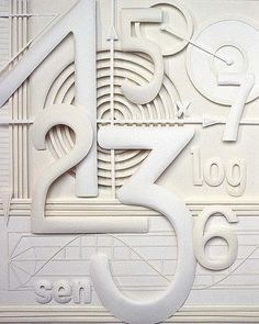 Paper Sculpture Numbers Illustration - Patricia Lima