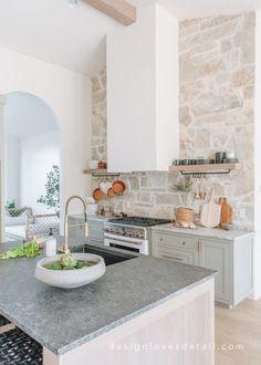 Home Decor Kitchen, Kitchen Interior, New Kitchen, Home Kitchens, Kitchen Dining, Home Design, Home Interior Design, Ideas Hogar, Cuisines Design