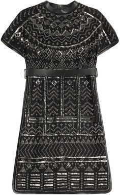 Valentino Embellished Wool-Silk Dress