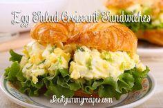 Egg Salad Croissant Sandwiches