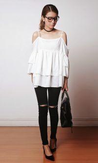 Look: Jeans + Blusa Ciganinha