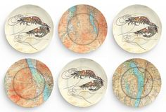 Shrimp  I love shrimp   choose one 10 inch by TheMadPlatters, $18.00    Love these...great shop!!