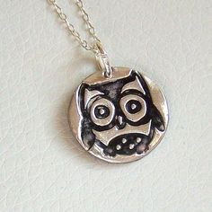 Silver Owl Necklace  Artisan Silver Jewellery and by ArtisanSilver, $40.00