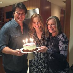 Some of us are blessed with more than one family. Happy birthday, Molly, and thank you so much Susan. Susan Sullivan, Nathan Fillion, Man Humor, Favorite Tv Shows, Birthday Candles, Castle, Happy Birthday, Photo And Video, This Or That Questions