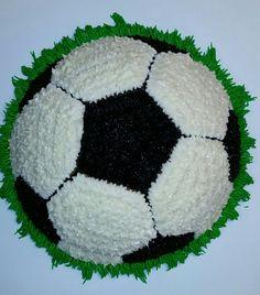 Soccer ball cake!                                                       …