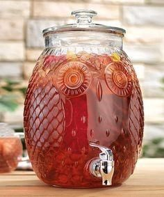 Home Essentials Owl Glass Beverage Dispenser - Gal could add a touch of whimsy to a simple space and functional, too. Decora Home, Owl Home Decor, Owl Kitchen Decor, Kitchen Ideas, Room Decor, Glass Beverage Dispenser, Woodland Critters, Owl Crafts, Wise Owl
