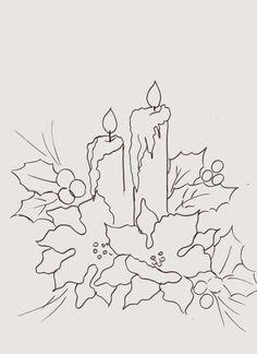 desenho de vela com bicos de papagaio para pintar
