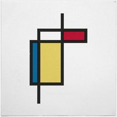 #187 What if Mondrian was right? – A new minimal geometric composition each day in Design