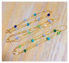 ✿glass colorful bracelet    淡いカラーが春の爽やかさを感じさせてくれます。繊細なブレスレットです。   下記で販売中です💫           https://www.creema.jp/creator/1902282/item/onsale