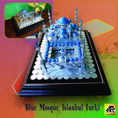 Mahar Pernikahan bentuk Blue Mosque Istambul, Turkey