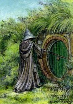 Gandalf at Bag End
