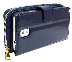 myLife Deep Navy Blue {Zipper Pouch Design} Faux Leather (Card, Cash and ID Holder + Magnetic Closing) Slim Wallet for Galaxy Note 3 Smartphone by Samsung (External Textured Synthetic Leather with Magnetic Clip + Internal Secure Snap In Closure Hard Rubberized Bumper Holder) myLife Brand Products http://www.amazon.com/dp/B00MR887OO/ref=cm_sw_r_pi_dp_8i9vub1NE47EW