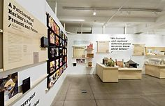 I like the box frame on the wall concept & the resting on a wooden cleat. Exhibition Display, Exhibition Space, Exhibition Ideas, Environmental Graphics, Environmental Design, Design Museum, Exhibit Design, Signage Display, Display Design