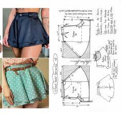 Dress Sewing Patterns, Sewing Patterns Free, Sewing Tutorials, Clothing Patterns, Sewing Shorts, Knitting Paterns, Loose Jeans, Diy Dress, Pants Pattern