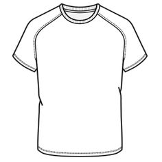 Patrones ropa bebes, uniformes, chicos, chicas... Remera 7100 HOMBRES Remeras Badminton Shirt, Shirt Template, Outline Drawings, Tee Shirt Designs, Tee Shirts, Tees, Summer Kids, Pattern, Vectors