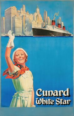 Tom Curr poster: Cunard White Star