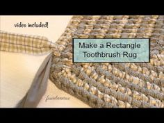 Four Eleven Rox: Making a Rectangle Toothbrush Amish Knot Rag Rug – Braided Rugs Diy Diy Carpet, Rugs On Carpet, Beige Carpet, Cheap Carpet, Modern Carpet, Modern Rugs, Rag Rug Diy, Diy Rugs, Toothbrush Rug