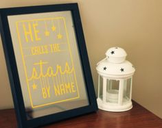 He calls the stars by name - Psalm 147:4 scripture paper cut silhouette art---would like this in my house....not sure what color though???