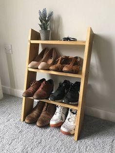 Cozy Diy Shoe Rack Design Ideas For Creative Home Decoration Baby Shoe Storage, Entryway Shoe Storage, Entryway Decor, Storage Spaces, Storage Ideas, Entryway Ideas, Porch Storage, Bedroom Decor, Shoe Rack Oak