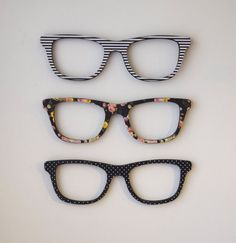 Patterned Glasses Trendy Wall Decor by DecorativeDimensions