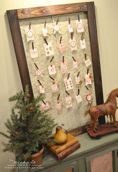 Old-Fashioned Advent Calendar ideas from Papertrey Ink that serves double-duty - See full details at http://nicholeheady.typepad.com/capture_the_moment/2012/10/countdown-to-christmas.html?utm_source=feedburner_medium=email_campaign=Feed%3A+typepad%2FSWJb+%28{capture+the+moment}%29
