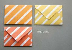 ATELIER CHERRY: Envelopes decorados - Molde