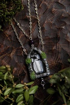 This Forest Door necklace is a great gift for fantasy fans, for people who looks for unusual jewelry full of magic and mythical atmosphere. This gothic portal jewelry also could be a perfect present for those who likes britain mythology and foggy forests.  Pendant is made of polymer clay, hand-sculpted without molds and hand-painted with acrylic for miniatures.  Pendant size is 4x2.5 cm~ 1.57x0.78 inches. Chain length is 62 cm ~ 24.4 inches.  For your information: - Polymer clay items are…