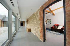 Minoli Tiles - Speculative Development / Stable Conversion, Oxfordshire - Floor Tiles:  Evolution Evolve Concrete 75 x 75 cm - https://www.minoli.co.uk/tiles/evolve-concrete/