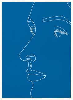 Vivien on Blue (2007) :: Alex Katz