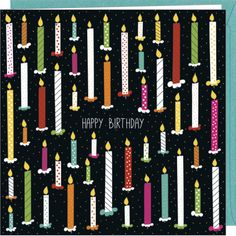 "Laetitia Haas carte double  ""Happy birthday"""