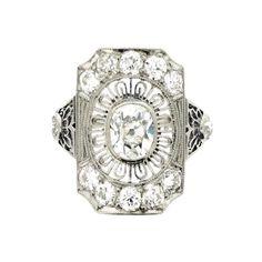 Antique old mine cut diamond cluster ring by Gorham, circa 1905