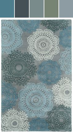 ❤ =^..^= ❤ Brevard Rug in Grey Designed By Capel Rugs via Stylyze