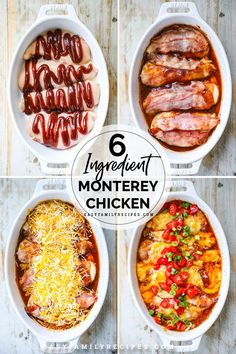 Baked Monterey Chicken Breasts are loaded with flavor! This recipe is kid friendly and grown up Fast Dinner Recipes, Easy Chicken Dinner Recipes, Fast Dinners, Baked Chicken Recipes, Easy Meals, Fast Easy Dinner, Kid Friendly Chicken Recipes, Easy Kid Friendly Dinners, Crowd Recipes