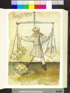 ca 1425. Aus Nürnberger Zwölfbrüderbücher. Die Mendelschen und Landauerschen Hausbücher,  Amb. 317.2° Folio 5 recto          o0o