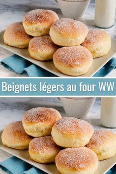 Beignets légers au four WW - Proposal Donut Recipes, Ww Recipes, Italian Recipes, Sweet Recipes, German Recipes, Small Desserts, Ww Desserts, Dessert Recipes, Nutella