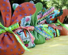My scrap mini bunnies Featured today - http://fabricshopperonline.com/sunday-sewing-inspiration-sewing-for-easter/