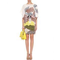 mytheresa.com - Diane von Furstenberg - PRINT-KLEID DIANE HANKY AUS SEIDE - Luxury Fashion for Women / Designer clothing, shoes, bags