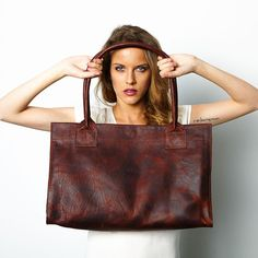 Market Leather Shopper | Red Bison
