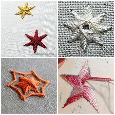 Вышивка звезды актуальна накануне Нового года и Рождества. Хотите знать, как вышить звезду? Вышитыми звездочками вы сможете декорировать елочные украшения, открытки или текстиль. Так что если вы хотите вышить рождественскую звезду своими руками или звездное небо, то вам пригодится сегодняшняя подборка мастер-классов.  Кстати, вышитые звездочки похожи на маленькие снежинки, поэтому уроки пригодятся вам и в том случае, если вы собрались заняться вышивкой снежинок. В сегодняшних мастер-классов…