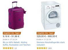 Amazon: Siemens-Haushaltsgeräte für einen Tag mit hohem Rabatt https://www.discountfan.de/artikel/technik_und_haushalt/amazon-siemens-haushaltsgeraete-fuer-einen-tag-mit-hohem-rabatt.php Für einen Tag sind bei Amazon elf Haushaltsgeräte von Siemens mit teils hohen Preisabschlägen zu haben. Im Angebot sind Waschmaschinen, Trockner, Geschirrspüler, Herde sowie Kühl- und Gefrierschränke. Amazon: Siemens-Haushaltsgeräte für einen Tag mit hohem Rabatt (Bild: Amazon.de)