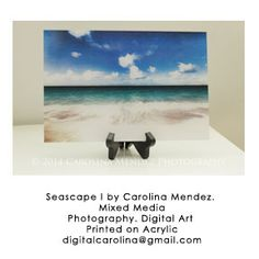 "Beach photography printed on plexiglas. 8""x12"". This one includes a holder to place it on a table.  For other sizes, please email me.  Available through email digitalcarolina@gmail.com"