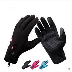 Touch Screen Antivento Impermeabile Sport All'aria Aperta Guanti Uomo Donna guanti Invernali Guanti di Sport All'aperto esercito guanti da corsa guanti