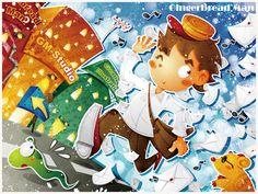 熱愛插畫的水瓶男子 – 薑餅人