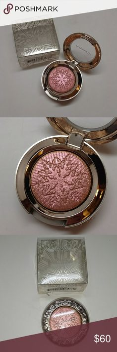 MAC ~ Stylishly Merry MAC extra dimension eye shadow color  Stylishly Merry From the 2017 Snowball collection. New with box never tested or used. liquid-powder Eye Shadow with prismatic reflections in ten shimmering tints. Impact ranges from sheer crystallized light to a highly polished metallic effect. Lasts up to 6 hours. New with box never tested or used.   *100% Authentic *NO trades MAC Cosmetics Makeup Eyeshadow