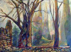 """""""Жизнь дерева"""" художник Елена Березина  Деревья так похожи на людей...У каждого свое лицо и свои истории...Есть женское начало и начало мужское...Они живут своей жизнью и наблюдают за нами.Быть может рисунки коры дерева рассказывают нам их истории? Давайте послушаем..."""