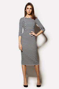 Купить обтягивающее платье TAILER в морскую полоску в брендовом бутике TM CARDO