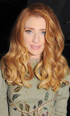 Red Hair: Nicola Roberts Decides To Curl Her Red Hair For The StylistPick Party, 2011