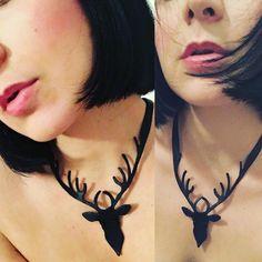 """Mi piace"": 134, commenti: 8 - LaborArtorIa (@laborartoria) su Instagram: ""Leather deer collar  Thank to my model and friend giulia_ankthi  #leathercraft #leatherwork…"""