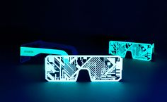 electro-phosphorescent glasses made out of paper